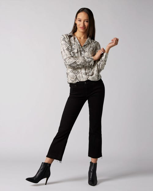 7 For All Mankind - Cropped Boot Unrolled Slim Illusion Fame