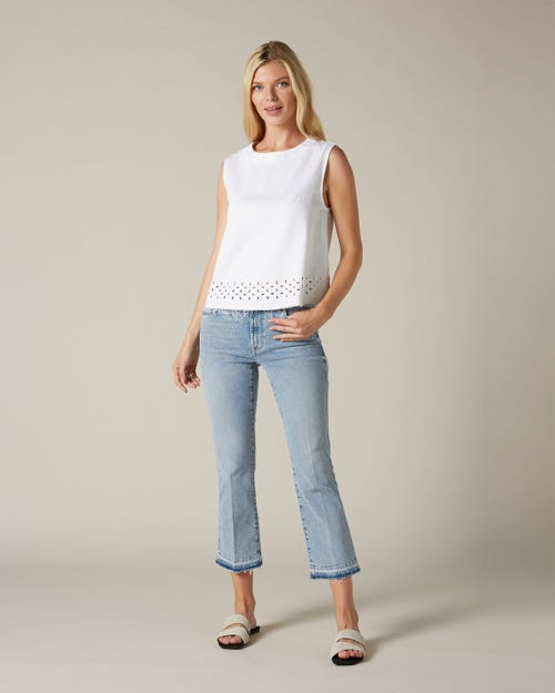 CROPPED BOOT UNROLLED SLIM ILLUSION PIER